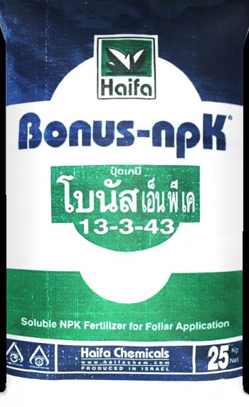 โบนัส NPK ขนาดบรรจุ 25 กก.